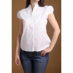 White Cotton Ladies Shirt