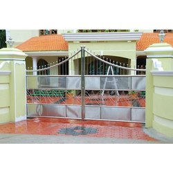 Hinged Stainless Steel Gate, Material Grade: Ss304