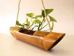 Brown Bamboo Planter