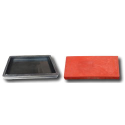 Raiser Floor Tiles Rubber Mould, Thickness: 25 mm