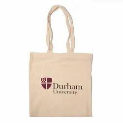 Loop Handle Organic Printed Cotton Bag, Design/Pattern: Plain, Capacity: Upto 5 Kg