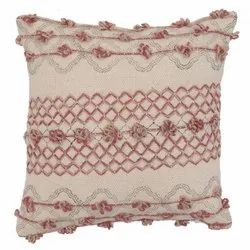 Embroidered Cotton Cushion Cover