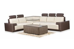 Metal And Fabric Corner Sofa Set