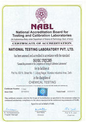NABLE 1 (National Accreditation Board for Testing and Calibration Laboratories