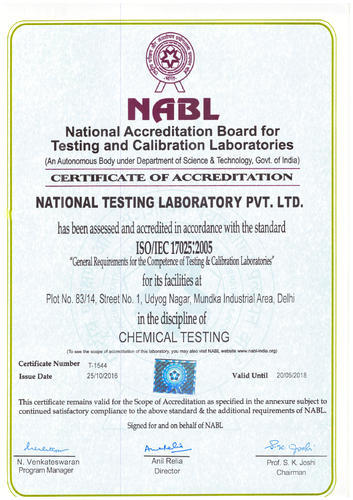 National Testing Laboratory Private Limited - Service Provider from