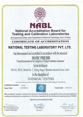 best cheap ae9a4 ed04e National Testing Laboratory Private Limited - Service Provider from Mundka,  New Delhi, India   Profile