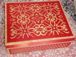 Red Laser Card Luxury Wedding Invitation Box