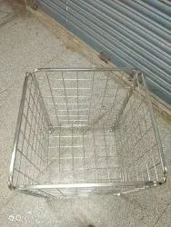 Silver Square Ss Basket, For Garments shop n Mall, Size: 24 * 30