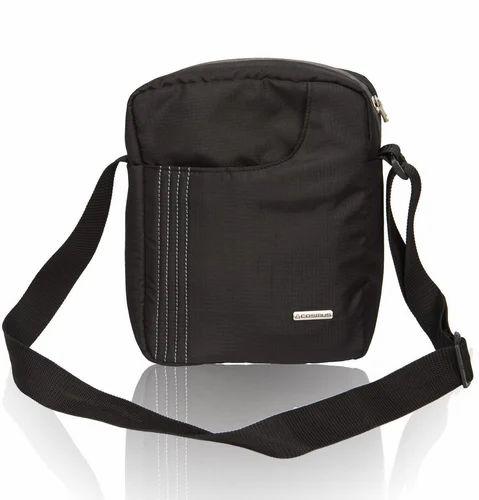 Cosmus Black Sling Bag For Men
