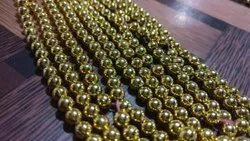 5/6mm matalized plastic beads