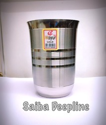 Saiba Deepline Stainless Steel Drinking Glass