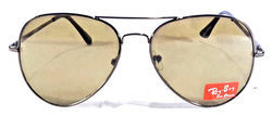 Nickel Silver Brown Sunglasses (Glass Lens), Size: Medium