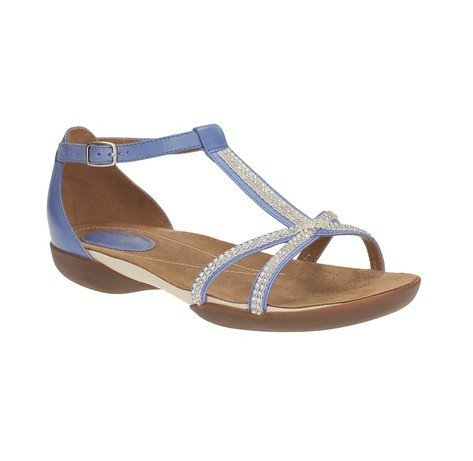 c44fefbac Clarks Women Raffi Star Blue Leather Sandal