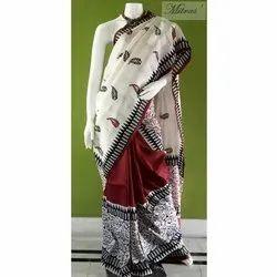 Casual Wear Printed Designer Silk Saree, 6.4 m, With Blouse Piece