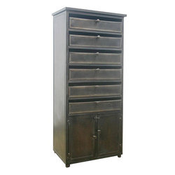 2 Doors Metal Rectangular Chest Almirah