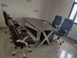 Modern Office Table And Chair Set One Table 2 Boss Chair and 3 Front Chair