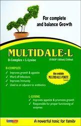 Multidale-L- B-Complex L- Lysine Syrup 100ml/200 Ml Syrup