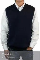 Uniform Trader Wollen Navy Blue Sweater, Size: 34-42