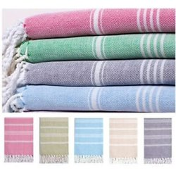 Recycled Cotton Yarn Striped Fouta Towels