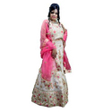 Golden Zari Work Lehenga Choli