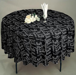 Letter Print Table Cloth