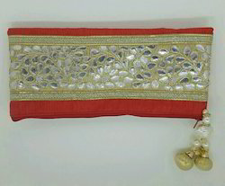 Embroidered Polyester Gota Clutch