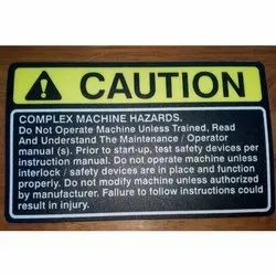 Caution Polycarbonate Sticker