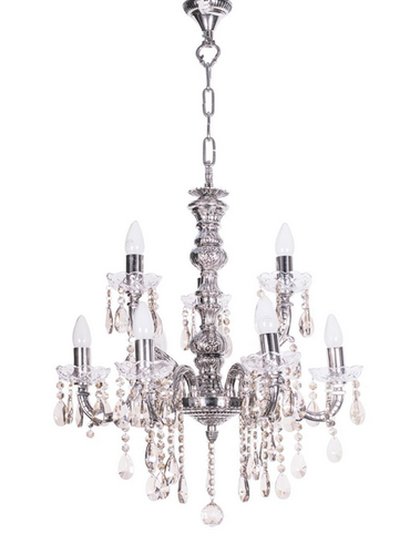 Sz silver 9 light brass crystal chandelier at rs 36581 piece sz silver 9 light brass crystal chandelier mozeypictures Images