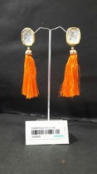 Traditional Antique Bollywood Tassel Earrings