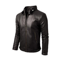 Black Leather Men's Jacket