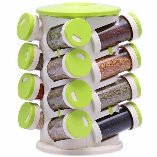 2456642416dd 16 In 1 Spice Sprinklers Masala Rack Set Kitchen Storage Set