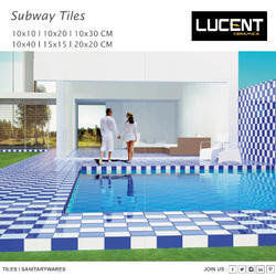 Rectangular Porcelain Subway Tiles, Thickness: 5-10 mm