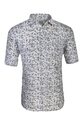 Full Sleeves Grey Printed Cotton Shirt, Size: S, M & L