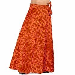 Ethnic Cotton Wrap Around Skirt 298