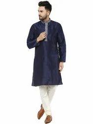 Plain Silk Kurta Pajama For Men