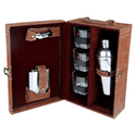 Light Brown Check - 03 Portable Cocktail Set