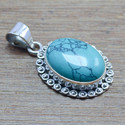TURQUOISE GEMSTONE WHOLESALE JEWELRY 925 STERLING SILVER PENDANT WP-5548