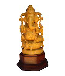 White Wood Ganesha