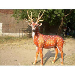 Natural Fiber Deer Statue, Size/Dimension: Natural