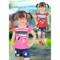Casual Wear Printed Western Round Neck Born Baby Dress