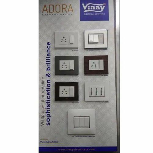 Vinay Polycarbonate Adora One Way Modular Switch, Voltage: 220-240 V