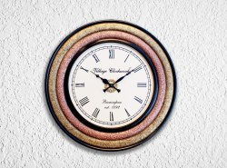 Analog Round Wooden Wall Clock