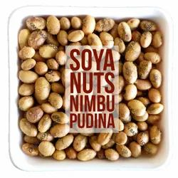 FIT FOODIE Nimbu Pudina Flavoured Roasted Soybean Nuts, Packaging Type: Laminated Hdpe Woven sack
