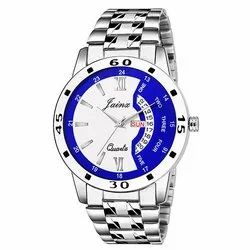 Jainx Silver Day and Date Analogue Watch for Men's & Boys JM321