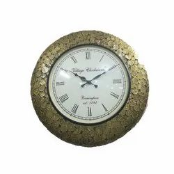 Pushpa International Metal Decorative Wall Clock, For Home, Packaging Type: Box