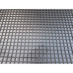 Black Checkered Rubber Mat, Thickness: 6 mm - 25 mm