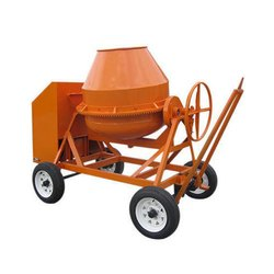 Round Mild Steel Cement Concrete Mixer, Drum Capacity: 500 L