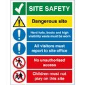 Construction Site Safety Rectangular Sign Board Printing