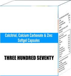 Calcitriol Calcium Carbonate and Zinc Softgel Capsule