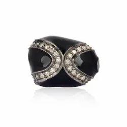 Pave Diamond Bead Findings
